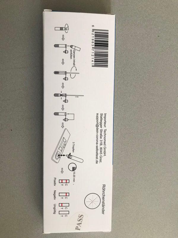 BOSON Biotech - Rapid SARS-CoV-2 Antigen Test Card - Schnelltest mit Sonderzulassung für Laien