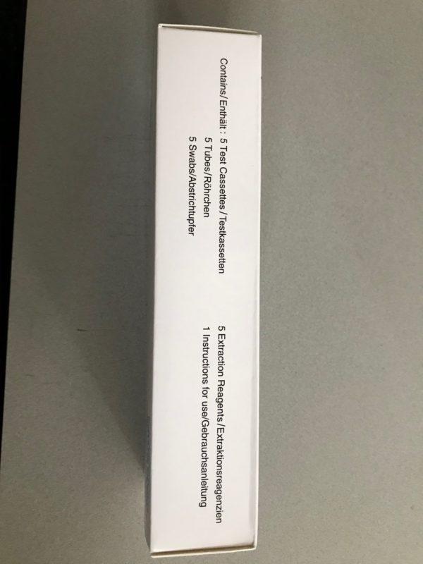 LUNGENE Covid-19 - Schnelltest - Antigen Rapid Test - 5er Packung - LAIENZULASSUNG - BfArM Nr. 5640-S-168/21